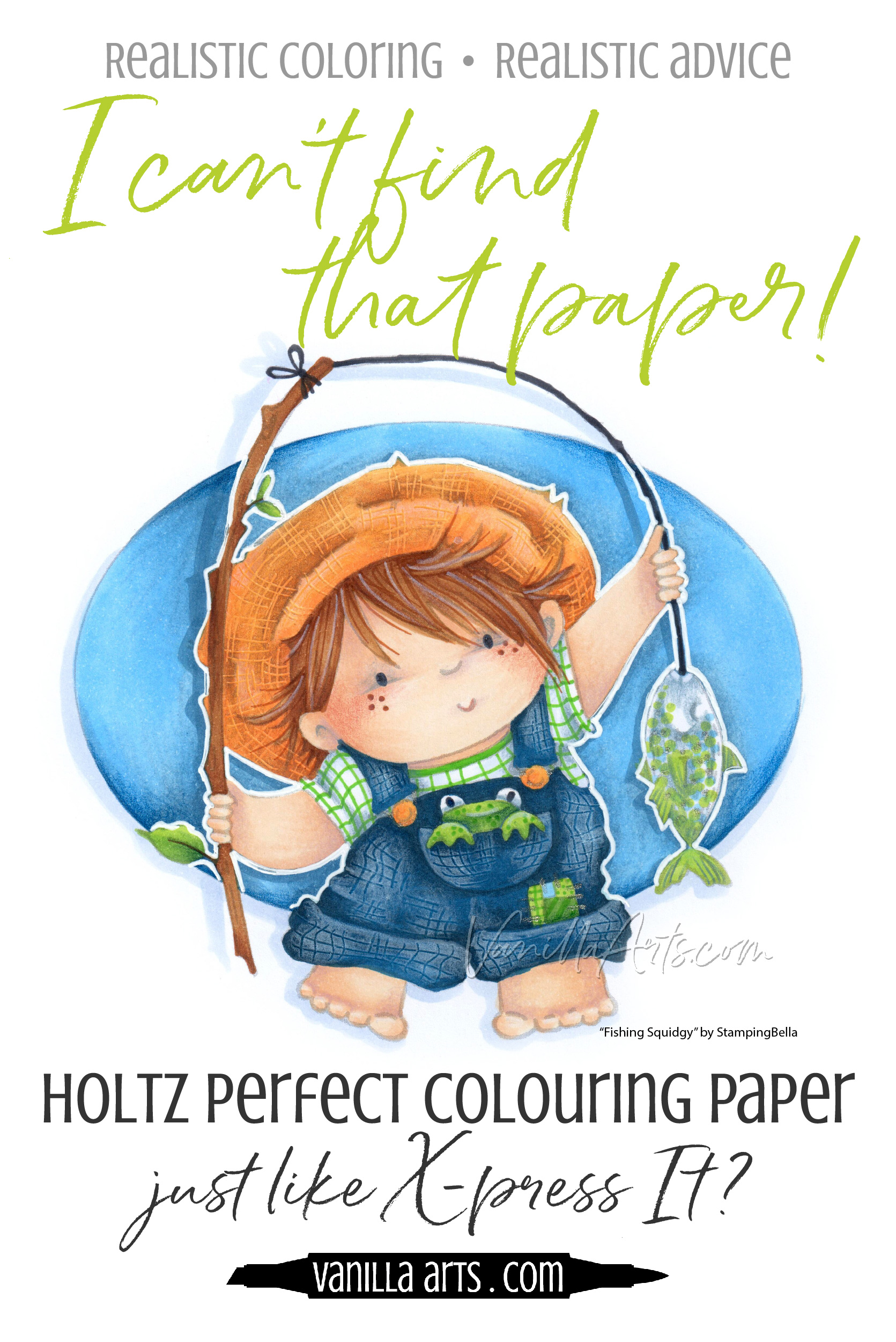 Is Holtz Perfect Colouring Paper really perfect for Copic Marker projects? We test this cardstock to find out! | VanillaArts.com | #copic #coloredpencil #howtocolor