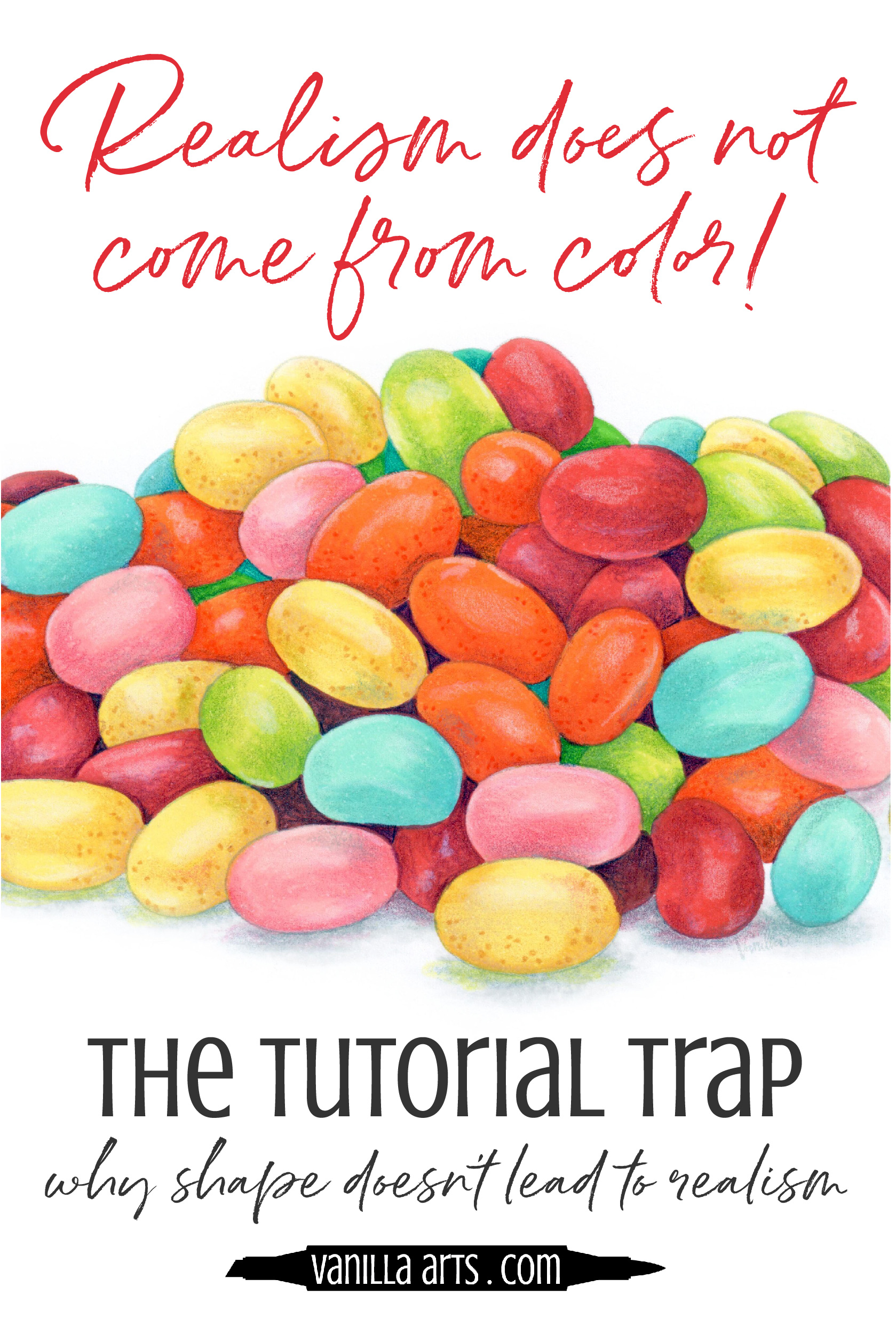 Do your Copic Marker and colored pencil projects look flat? Do you follow lots of coloring tutorials? There's a connection! Learn how to add back true depth & dimension. | VanillaArts.com | #copicmarker #coloredpencil #realisticcoloring