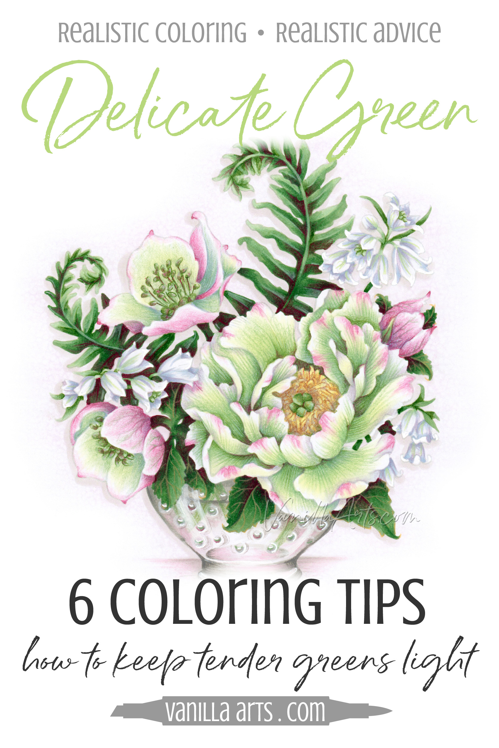 Improve Your Coloring How To Keep Green Soft Delicate Copic