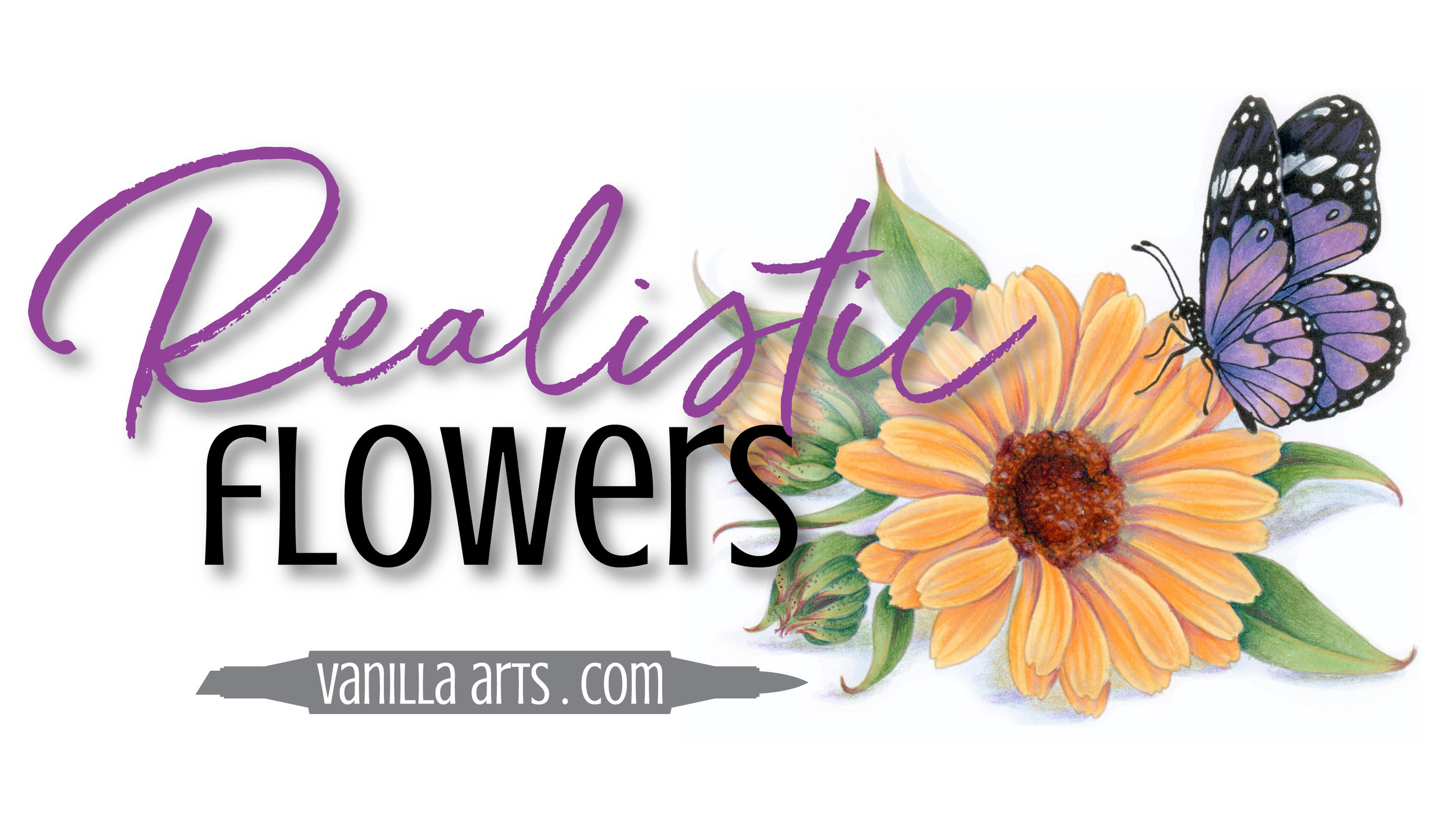 Do your Copic Marker and colored pencil flowers look fake, flat, and artificial? It's not you, it's the technique that's bad. Learn how to add back true depth & dimension to your florals and botanicals using a fine art approach. | VanillaArts.com | #copicmarker #coloredpencil #realisticcoloring