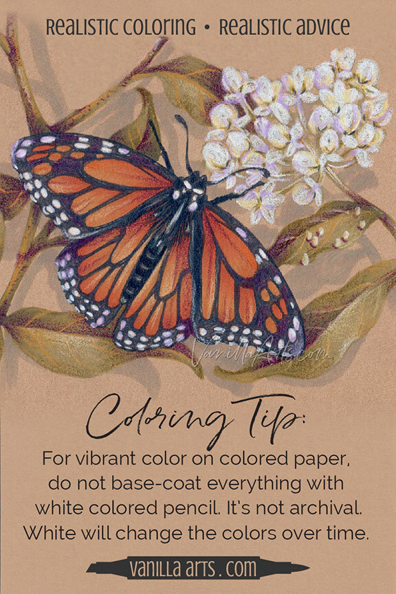Colored Pencils For Grown Up Coloring Coloring Tip Do Not BaseCoat with White Colored Pencil
