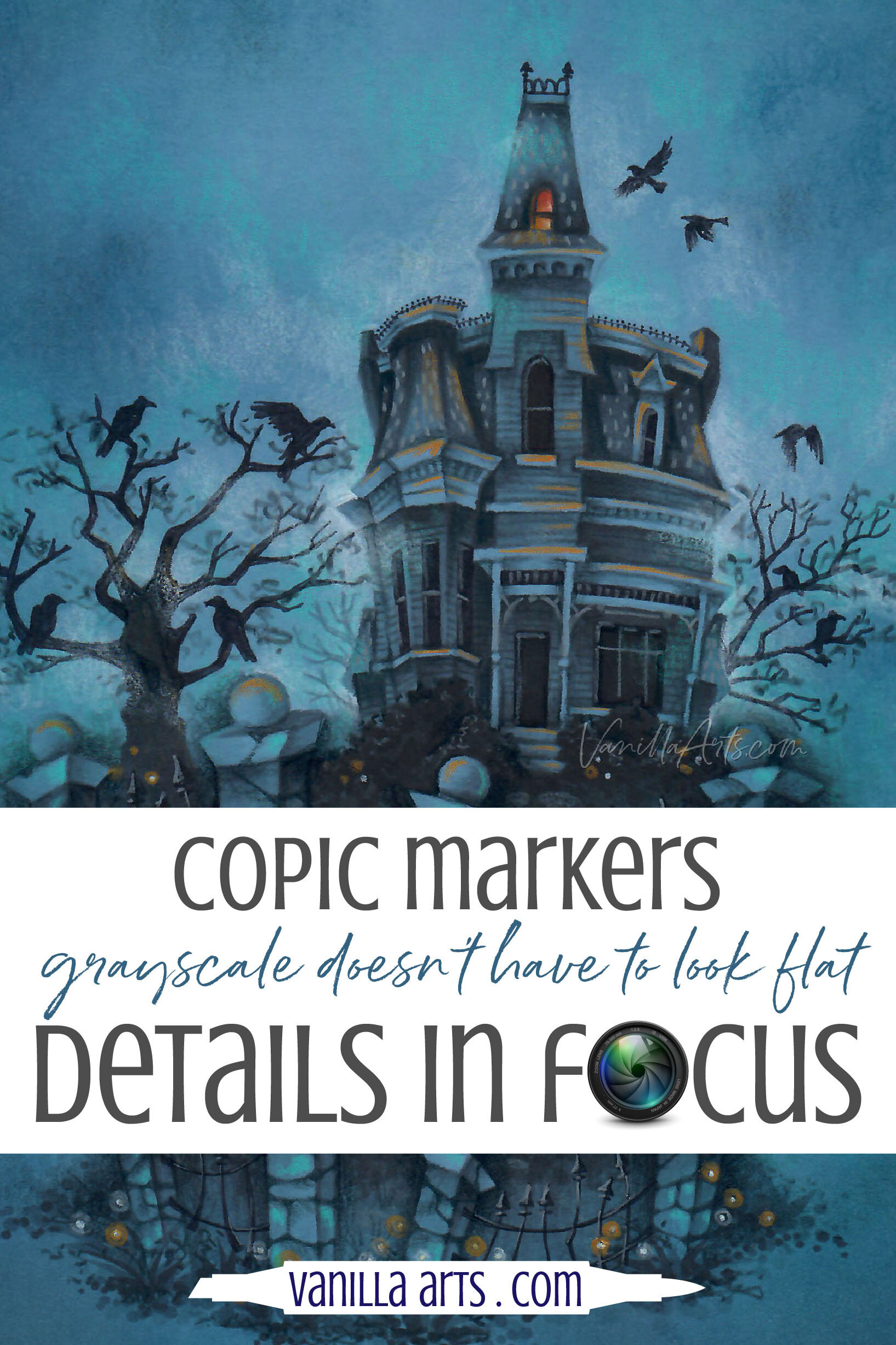 Details In Focus Add Beautiful Color To Gray Copic Marker Projects Plus Paper Recommendations Vanilla Arts Co