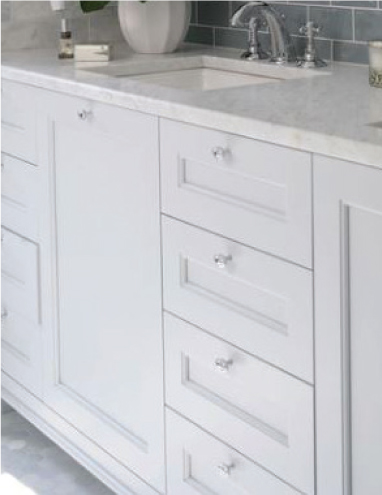 WD-30-C WOOD CABINETRY BELLMONT/1900 SERIES - WHITE ON MDF BATH