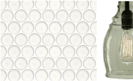 """TL-32-W TILE ACCENT UNITED TILE/AMERICAN UNIVERSAL/1"""" PENNY ROUND/COLOR VARIES PER UNIT BATHROOM SHOWER ACCENT"""