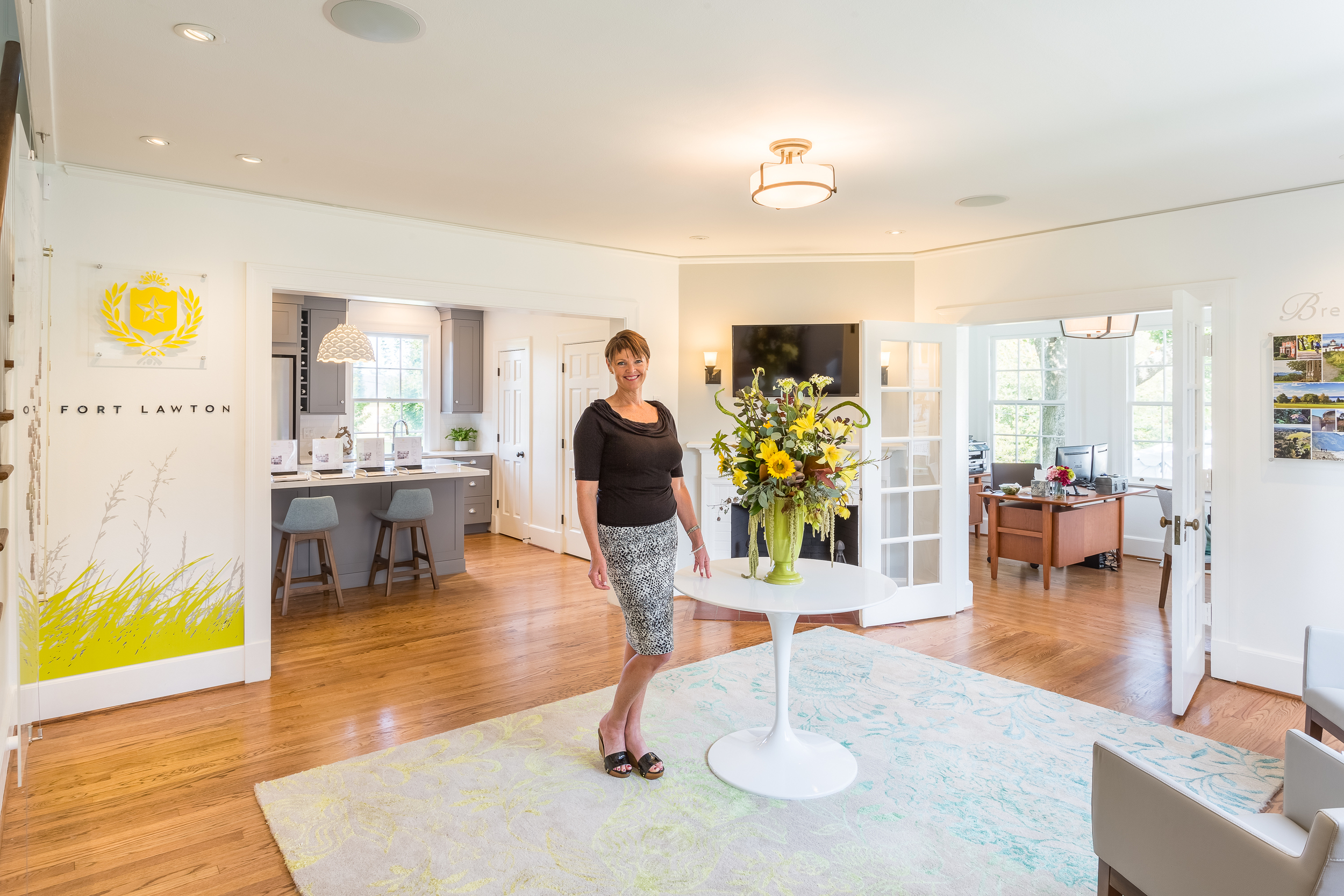 Stephanie McMahon at the Fort Lawton Sales Center, Located at 4407 Montana Circle