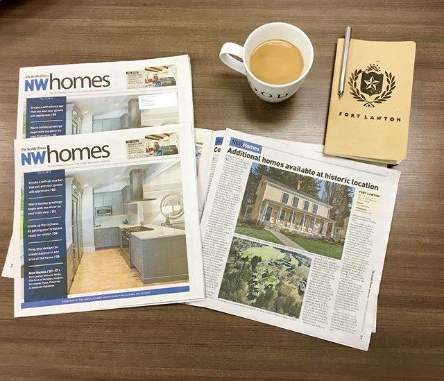 Did you see @seattletimes's NW Homes section this weekend? Grab a cup of coffee and take a peek at Fort Lawton's advertorial! #seattletimes #fortlawton #discoverypark #iconicinnature