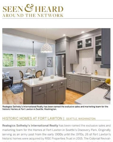 "The Homes at Fort Lawton Prominently Featured in Sotheby's International Realty's ""Collections"" Magazine! http://bit.ly/1K9WKa6  #SothebysRealty #FortLawton #LuxuryLiving #TheHomesAtFortLawton"