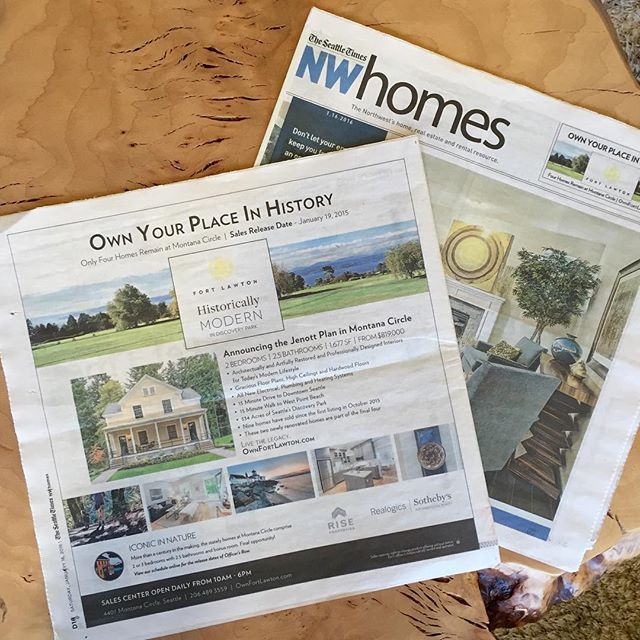 Grab the latest copy of @seattletimes NWHomes today to see the Homes at Fort Lawton's latest release — the two Jenott Floorplans! Learn more at OwnFortLawton.com! #fortlawton #montanacircle #discoverypark #seattle