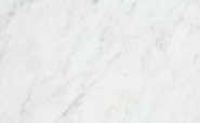 Natural Carrara marble tile accents in bathrooms