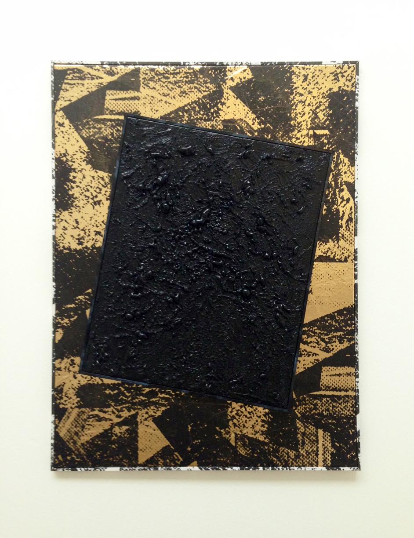 Roman Liska, Untitled (black mesh gold stonewash crease), 2013.jpg