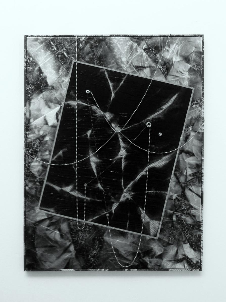 Roman Liska, Untitled (black mesh silver stonewash crease), 2013.jpg