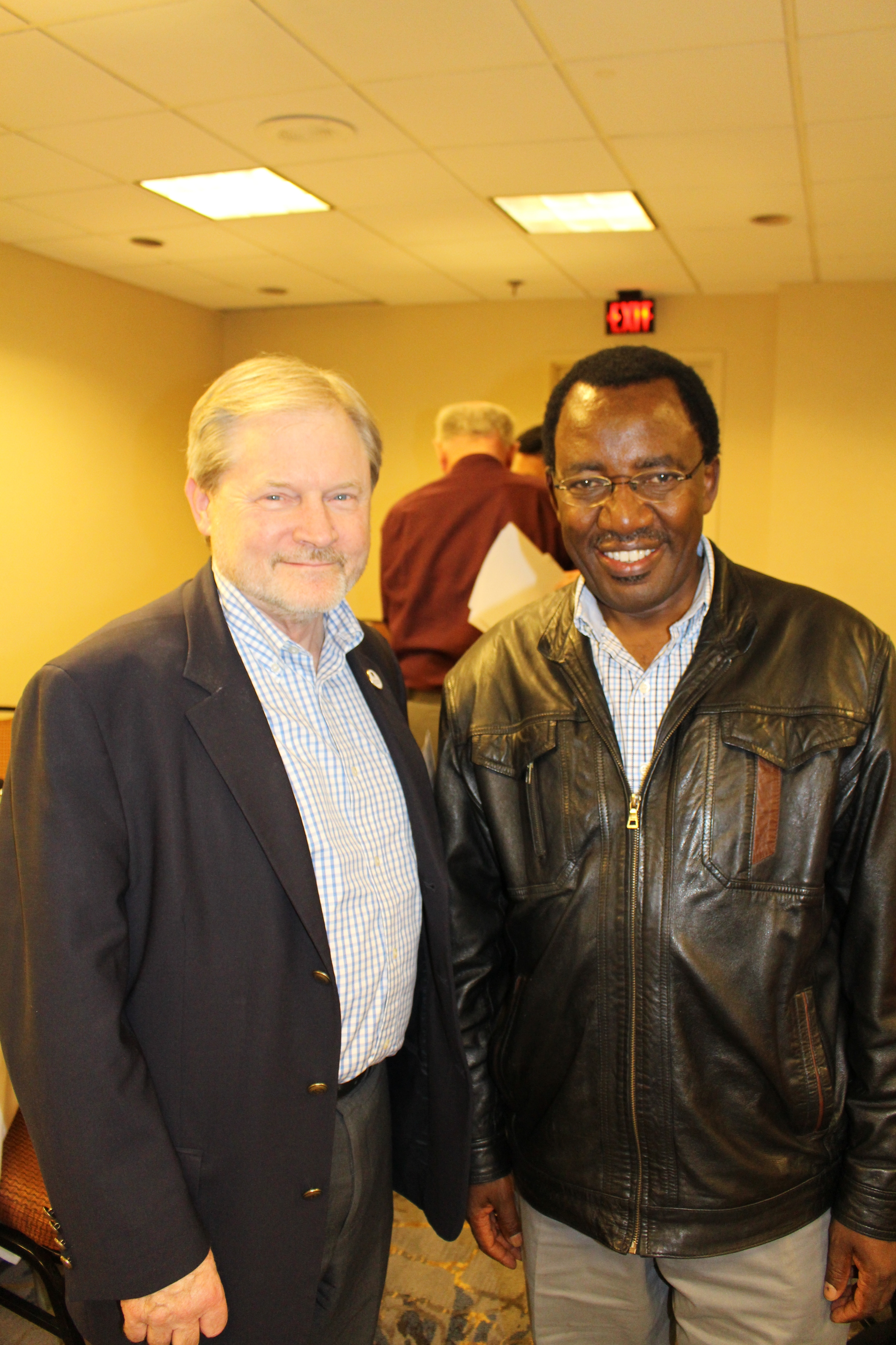 Bethel University's President Dr. James Barnes and Vice Chancellor Dr. Timothy Wachira