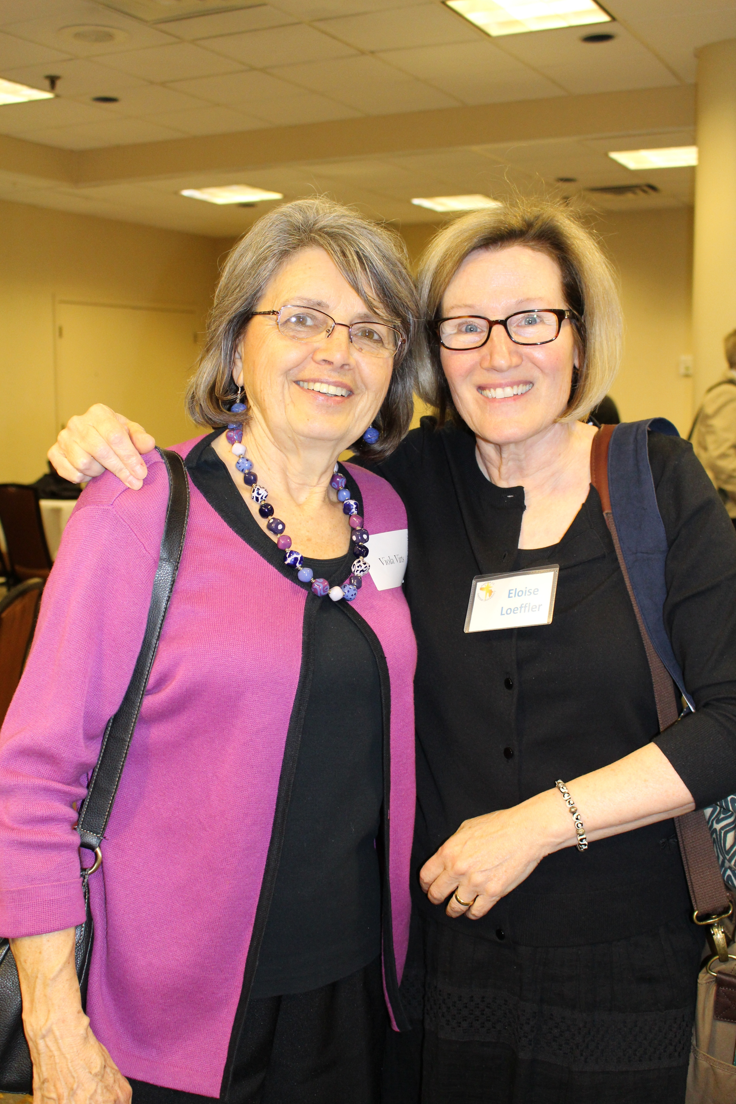 Viola Virts and Board Secretary Dr. Eloise Loeffler