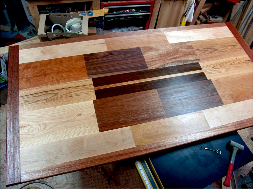 The finished, oiled table top.