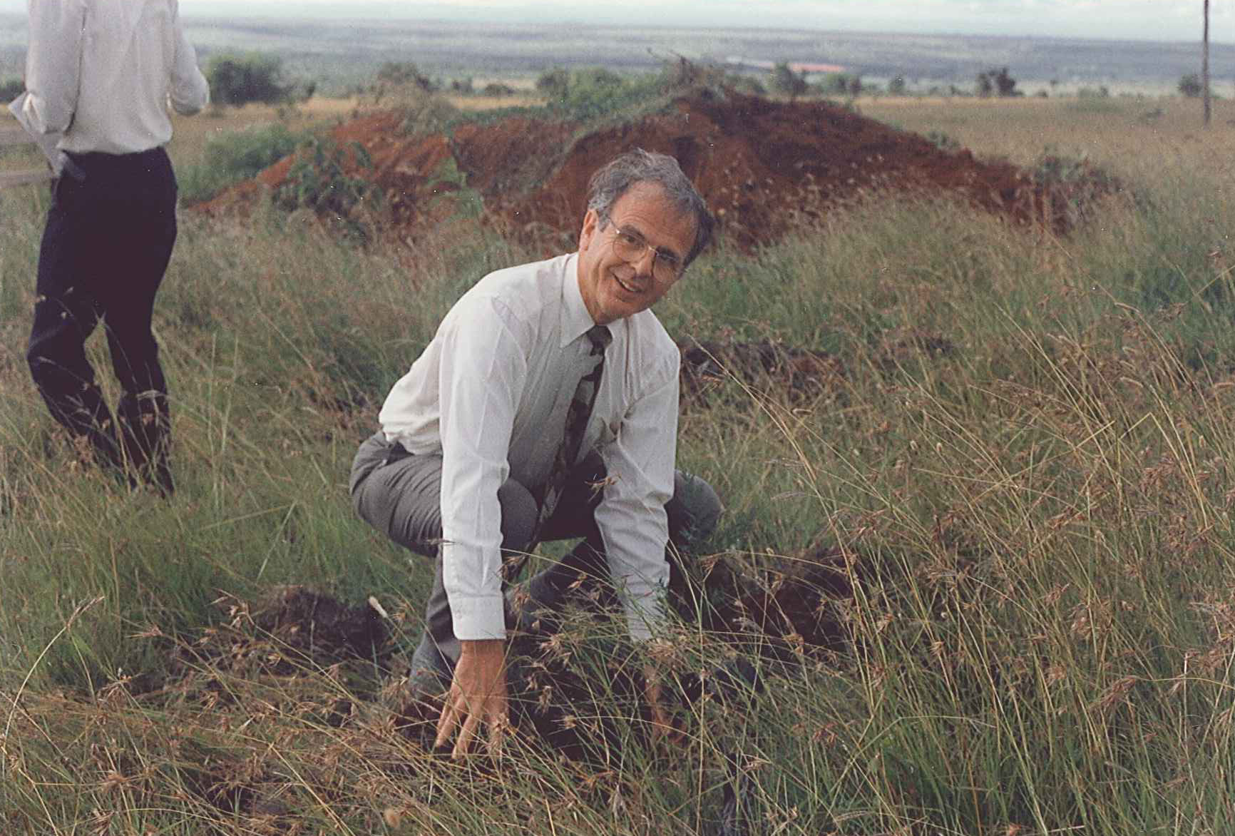 Dr. Ray Hostetter at the Athi River Campus in Kenya, 1993