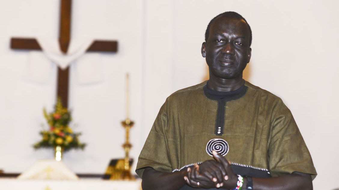 Reverend John Chol Daau, former 'Lost Boy' of Sudan, Daystar graduate and Pastor