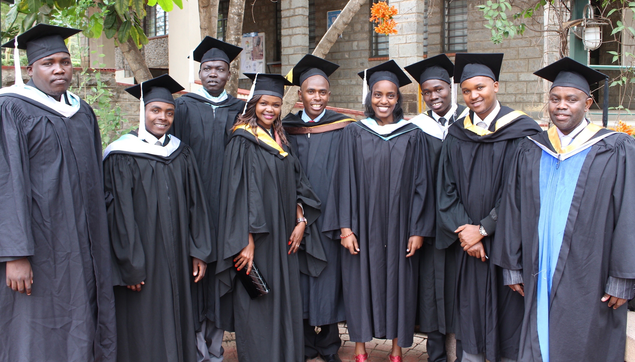 These are some of the 24 Daystar U.S. Scholarship Students that graduated this June.