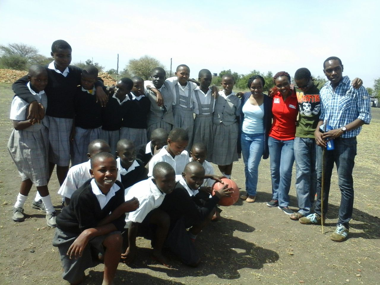 Some of the Mulandi students with LPT members.