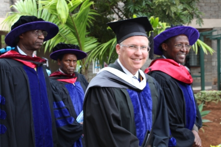 Jon Halverson, board member and VP of International Development at a Fortune 500 company, visited Daystar University for the 2016 graduation ceremony.
