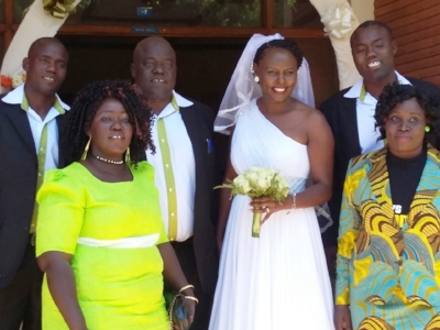 Jesse and his wife Juddy, who is also a Daystar alumni, on their wedding day.