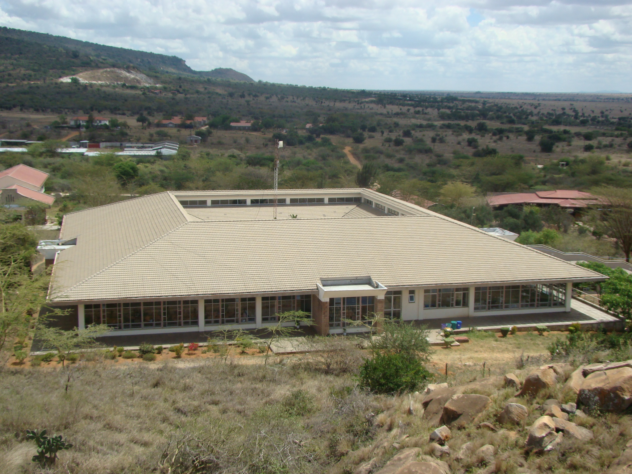 An aerial view of the Agape Library at the Athi River Campus.jpg