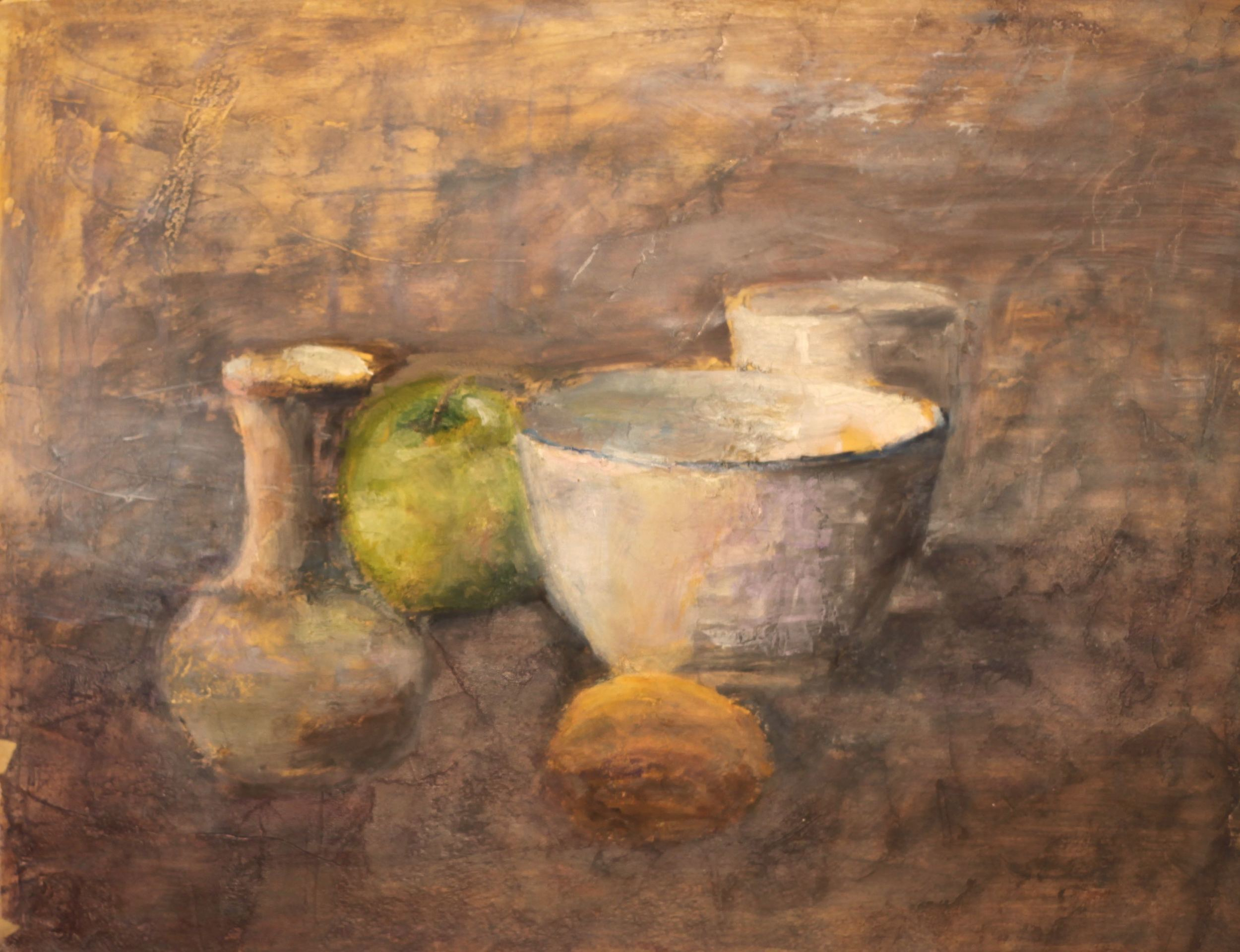 Apple with Bowl