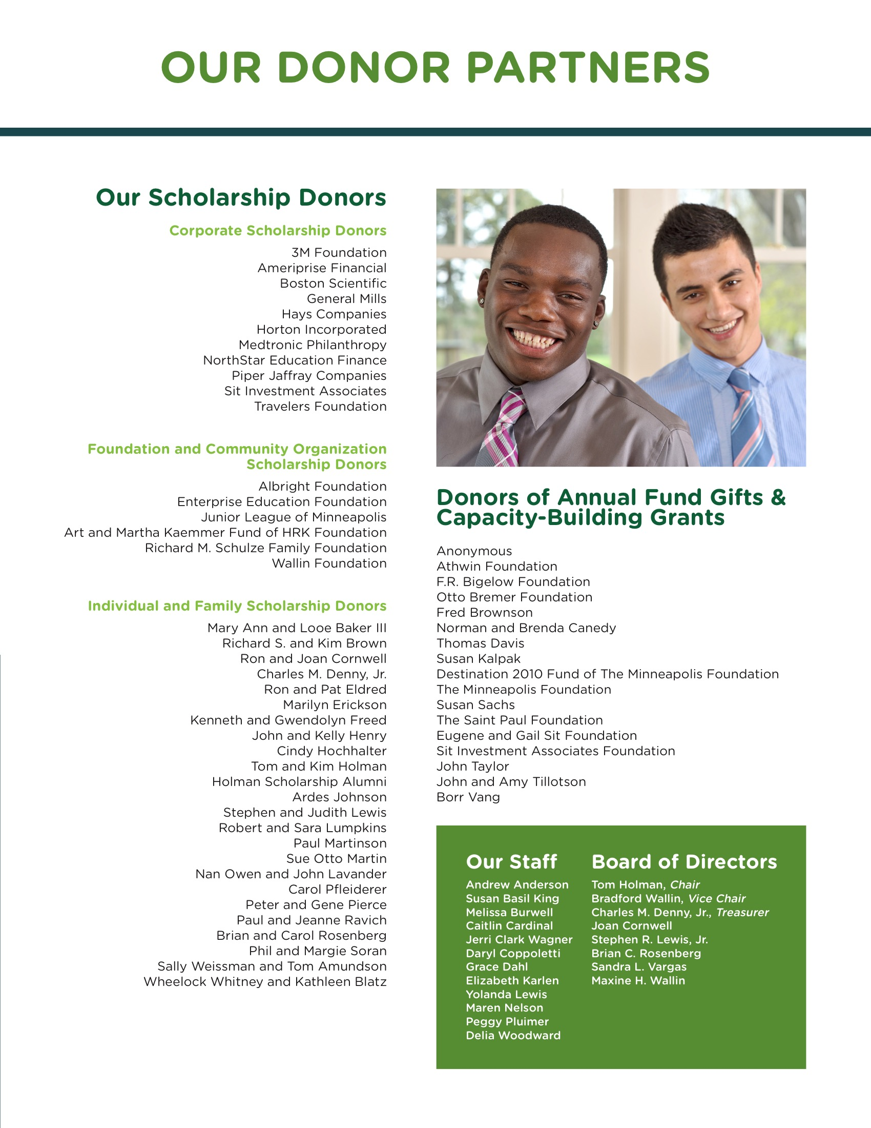 DONOR PARTNERS / ANNUAL REPORT