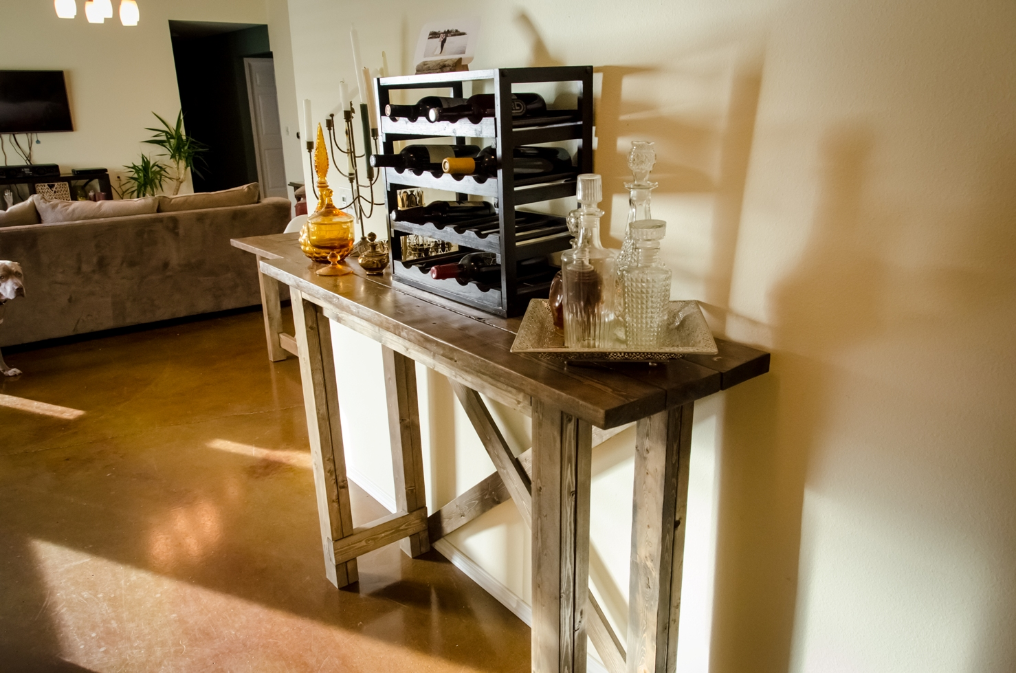 crate & barrel custom wood furniture
