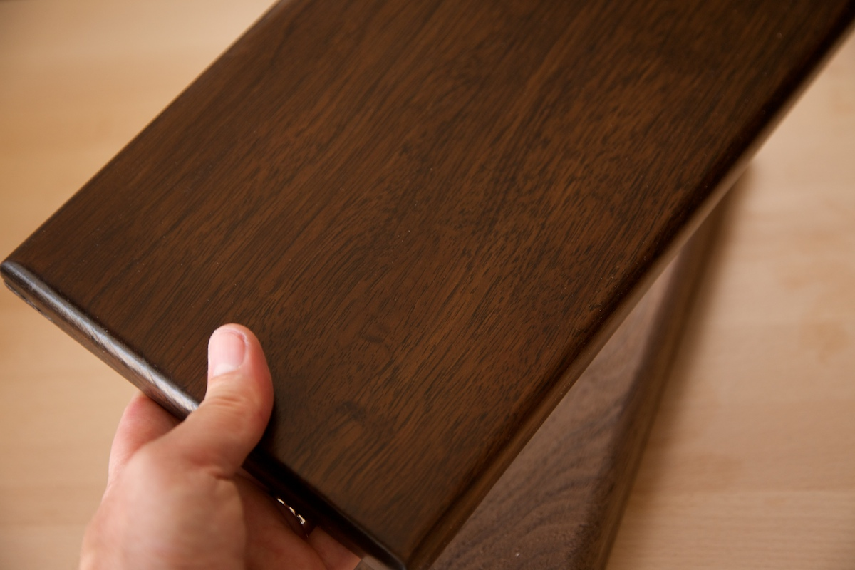 Walnut with lacquer finish