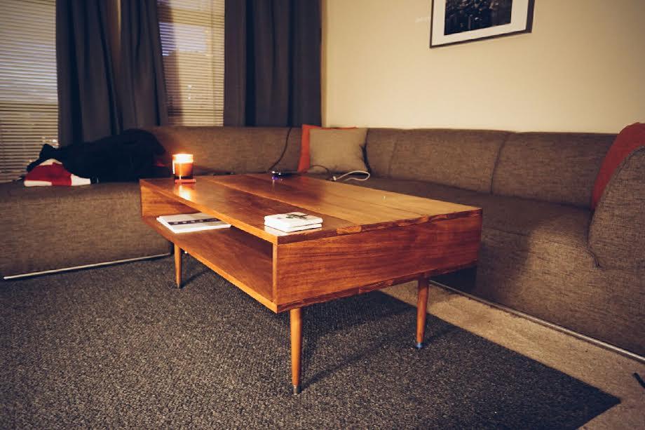 Mid Century, Hardwood Coffee Table