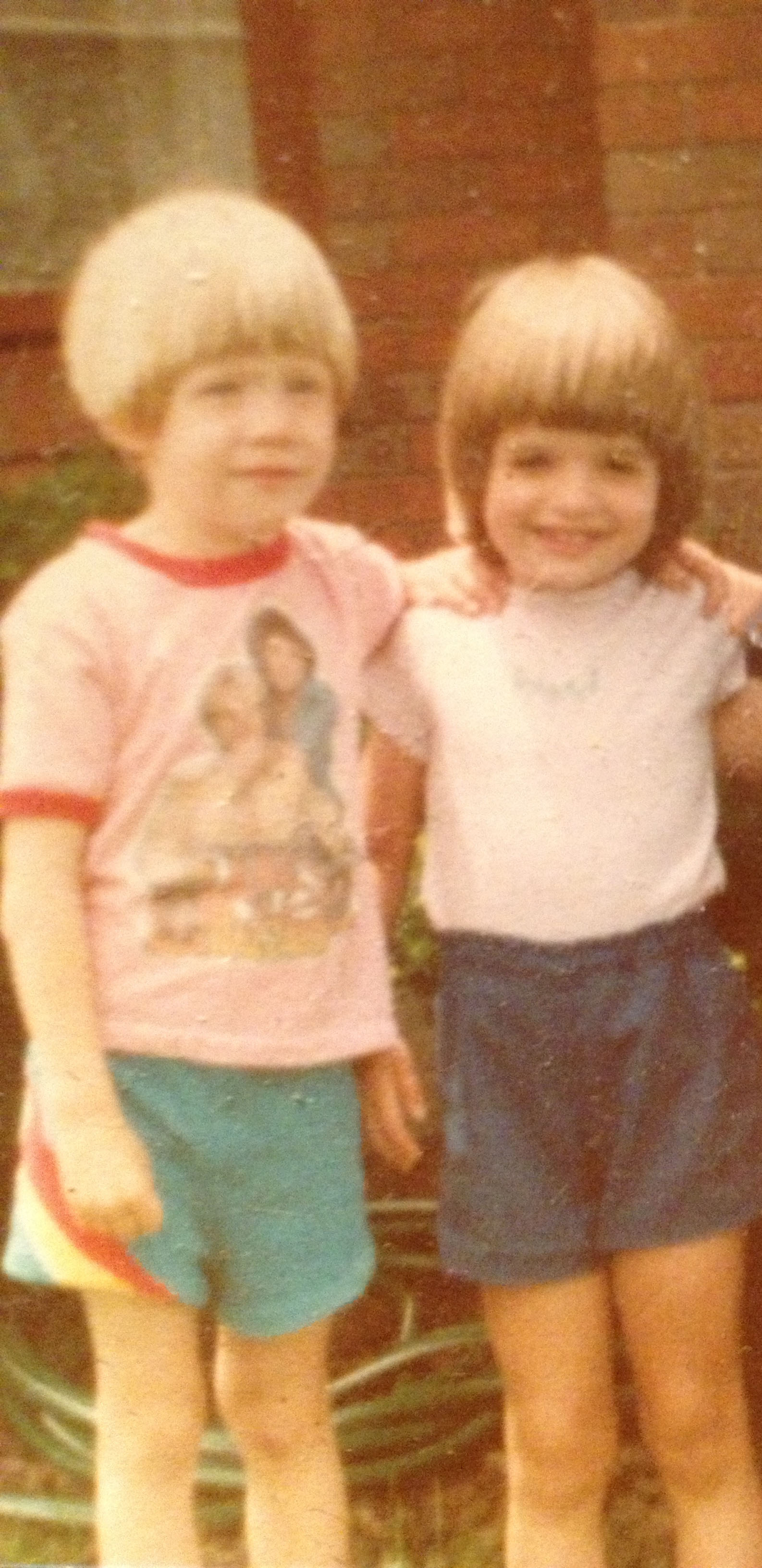 Yes a bad photo but look how cute we were!!!!!! Casey & Angela Paolini 1980's