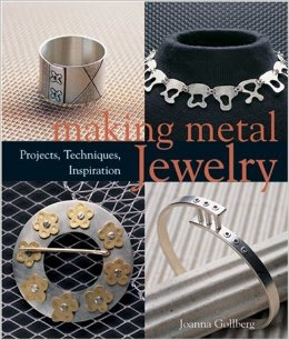 Ohhhh...here it is.....my first teacher of metals......Making Metal Jewelry. I made (almost) every project in this book to learn as much as I could about making jewelry.