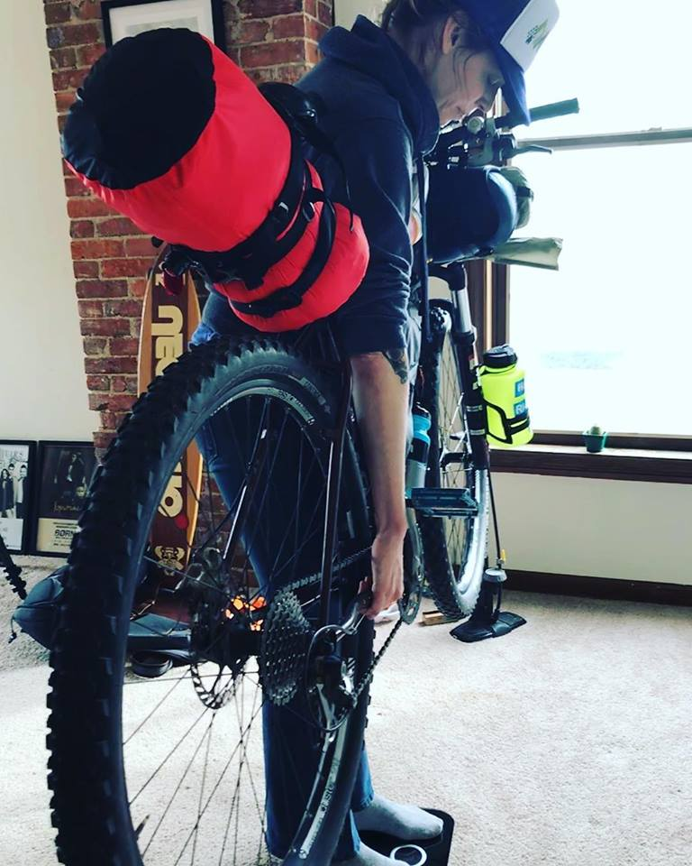 7 tips for traveling to new zealand with a bike weighing bike at home loaded with all camping gear