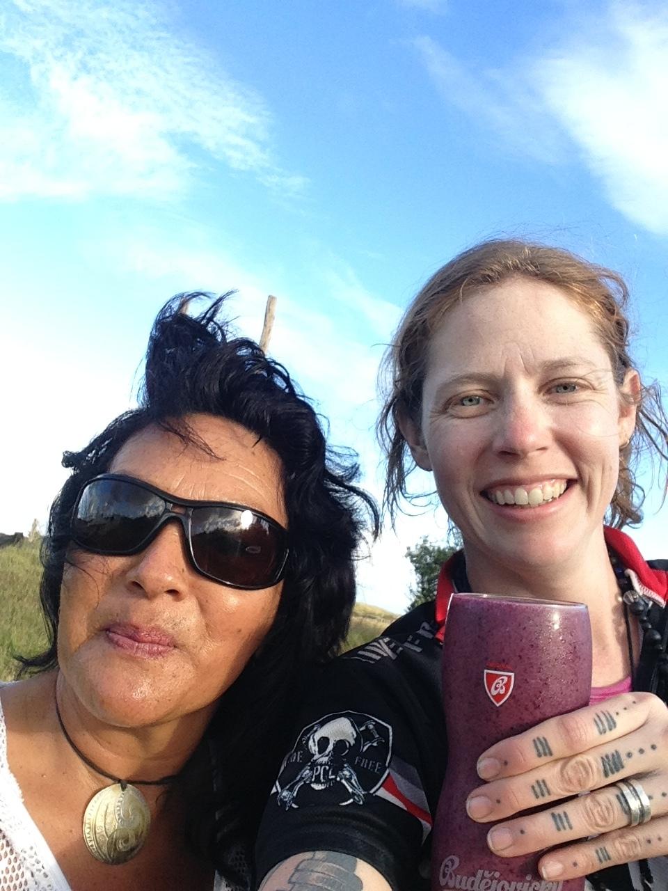 Tania and casey new zealand utea campground .JPG