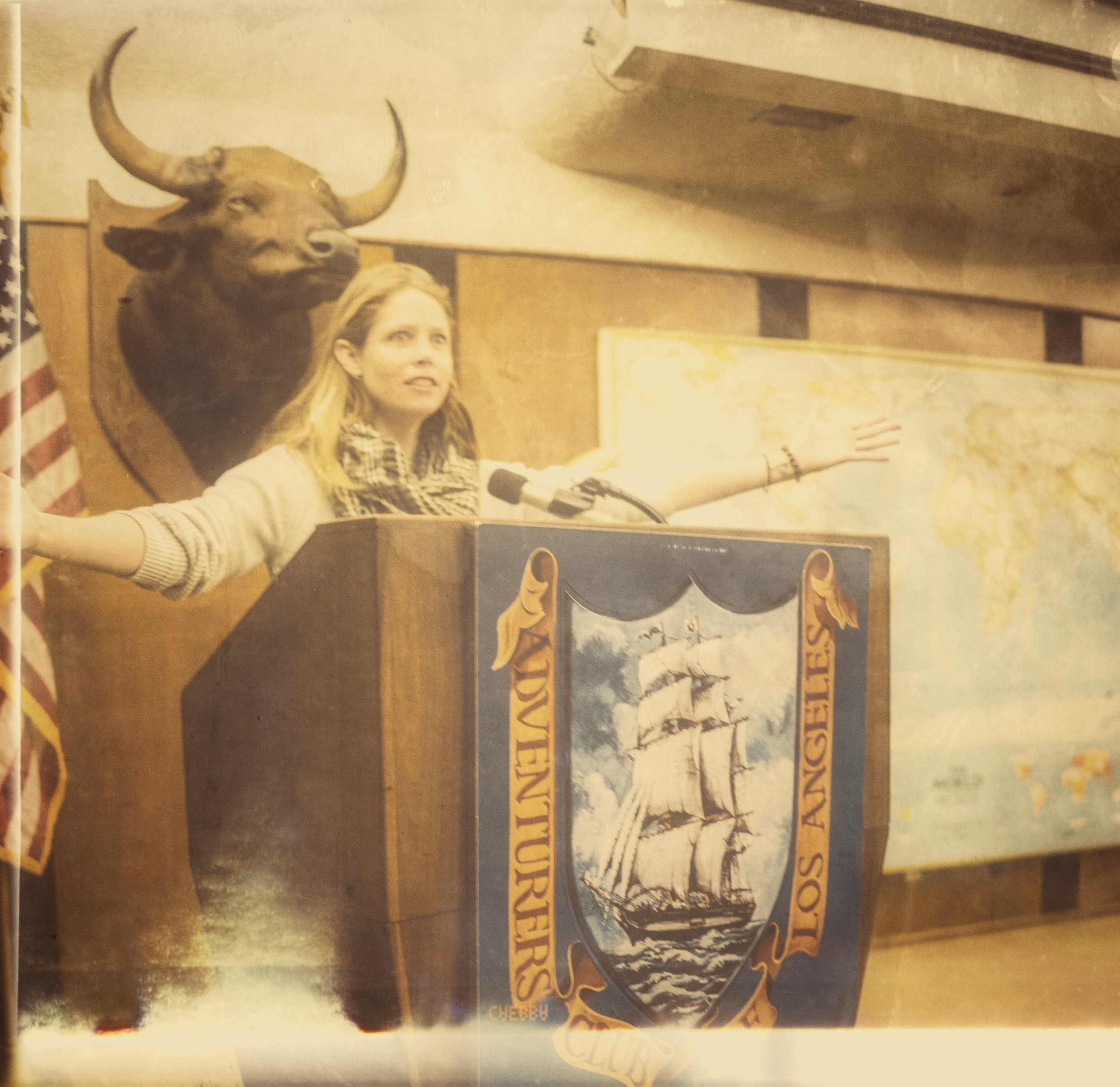 Speaking to the ENTIRE room at the Adventurers' Club of Los Angeles