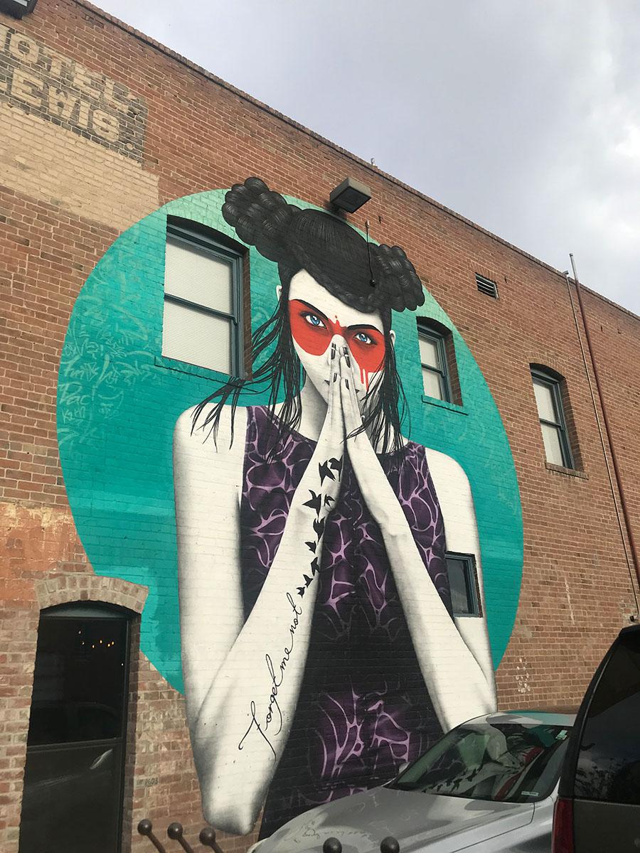 Graffiti Art outside the restaurant in downtown Tucson