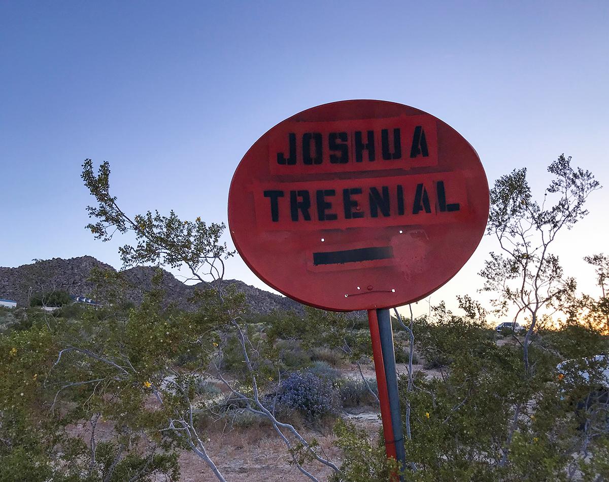 Sign to Bernard's Place, where the Joshua Treenial kicked off!