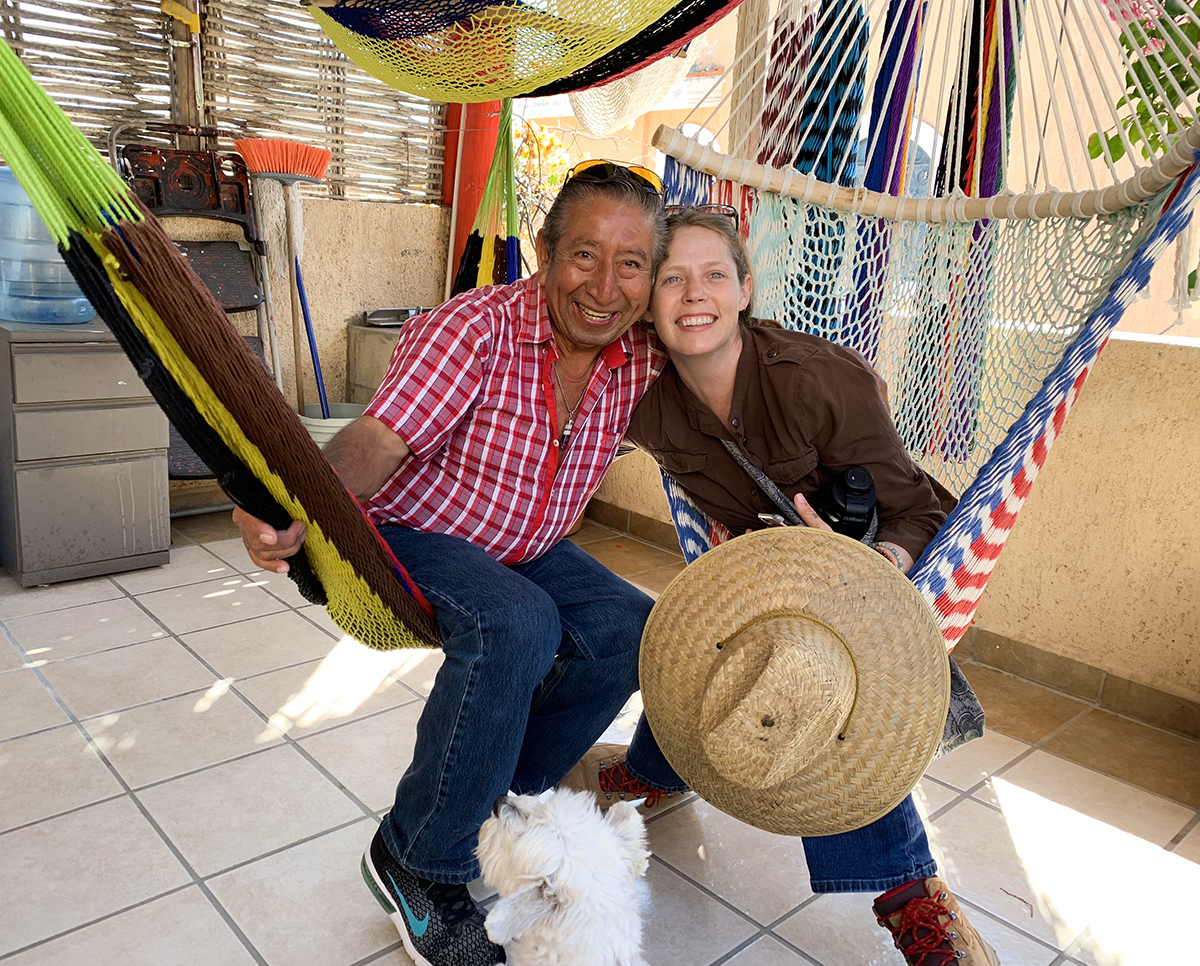 Shop owner Pepe, sharing stories with Alice and me. Getting to know the locals, what traveling is all about!
