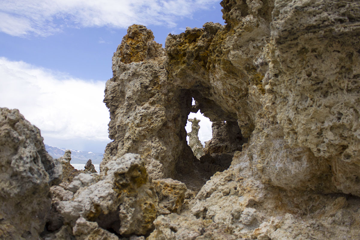 Angel looking through another Tufa.