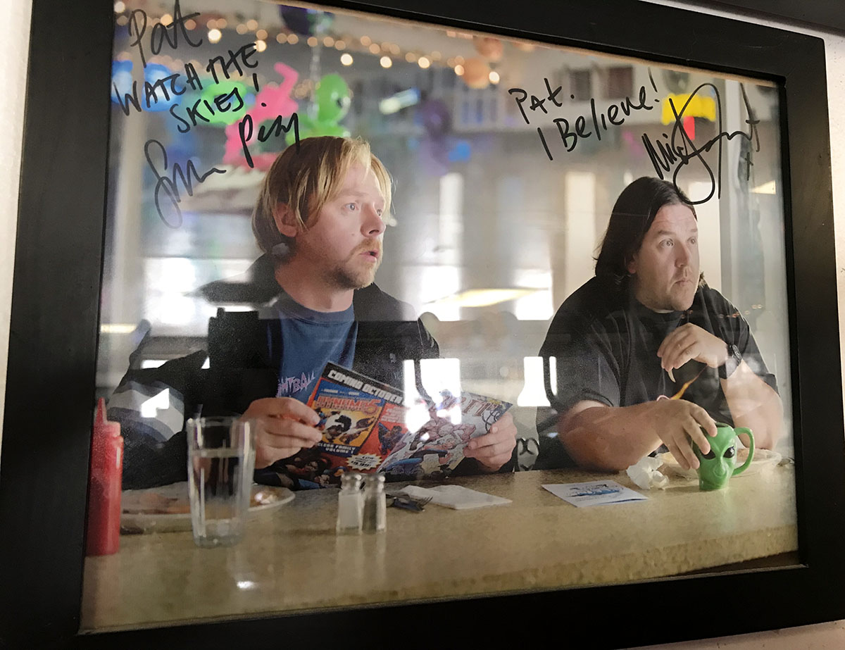 Autographed photo from the movie  Paul , which was filmed at A'Le'Inn in Rachel, Nevada.