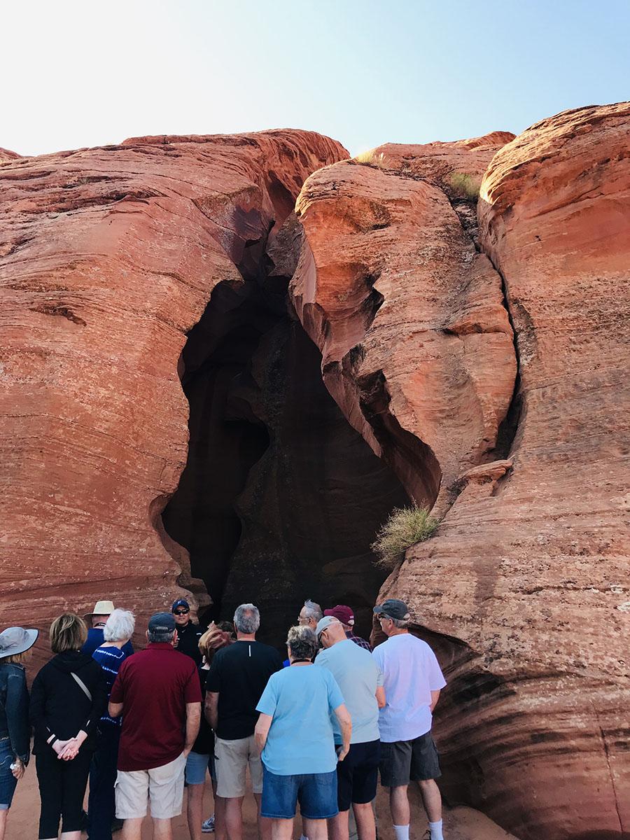 Waiting at the entrance of Antelope Canyon.