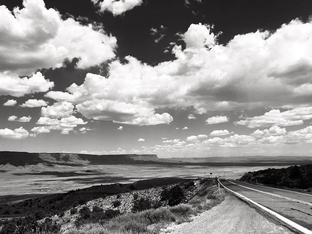 Road up to Jacob's Lake in Arizona.