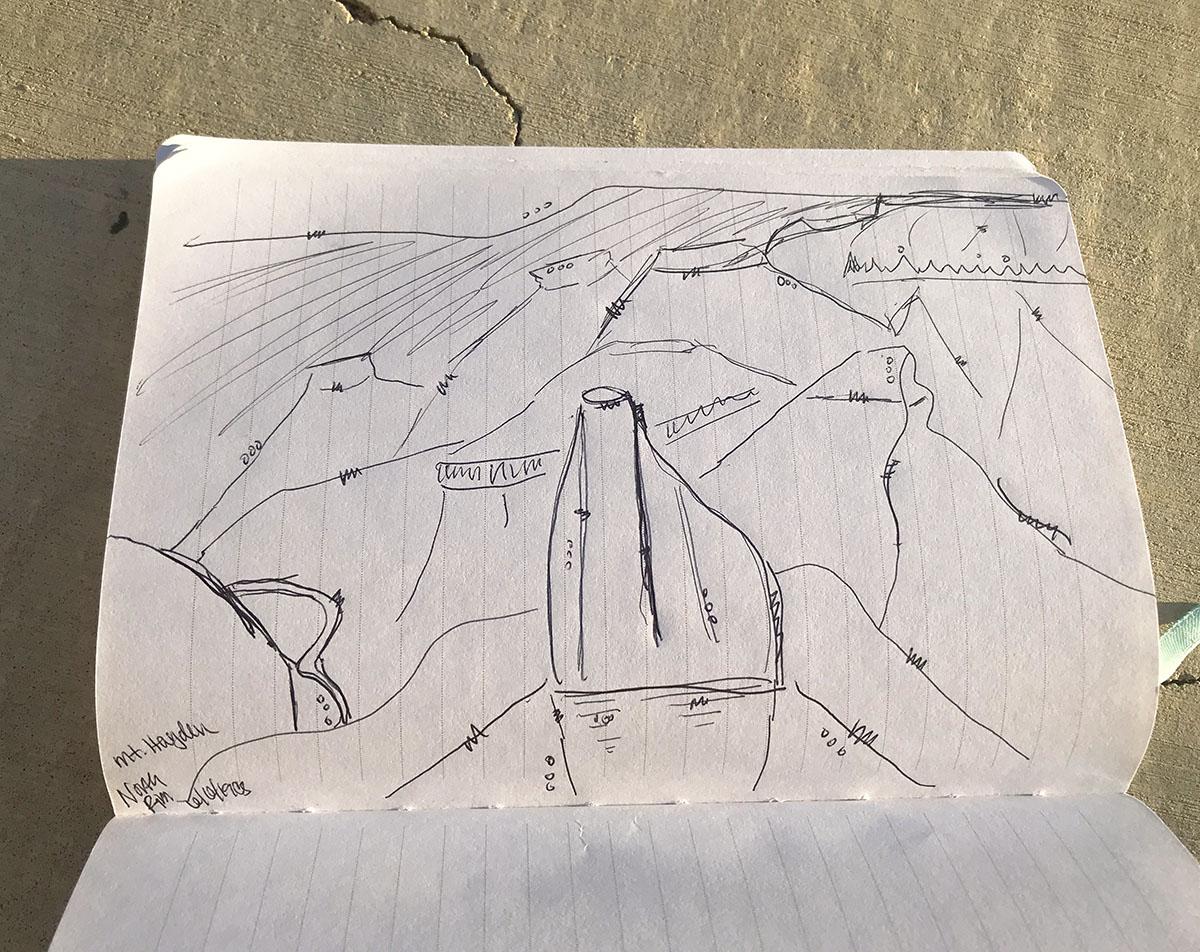 Drawing of Mt. Hayden