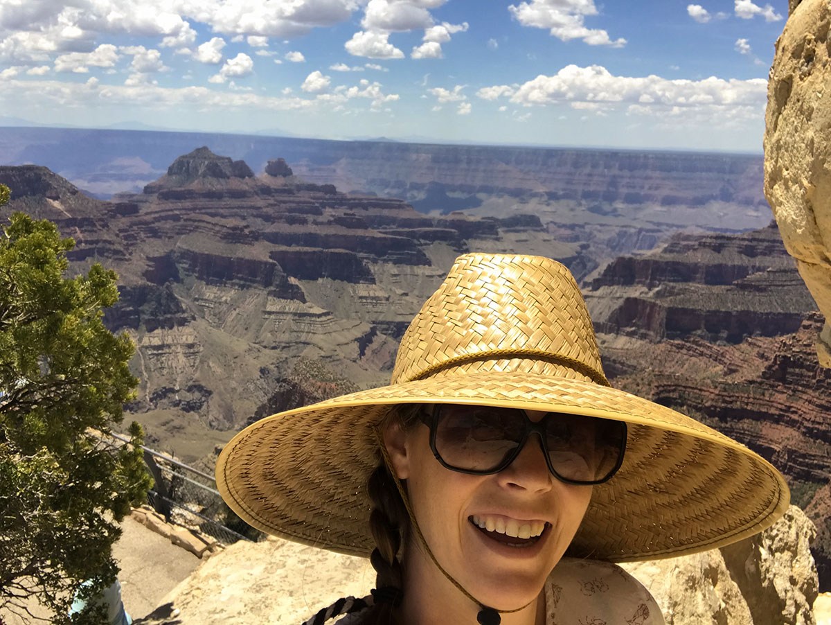 Selfie at the North Rim of the Grand Canyon.