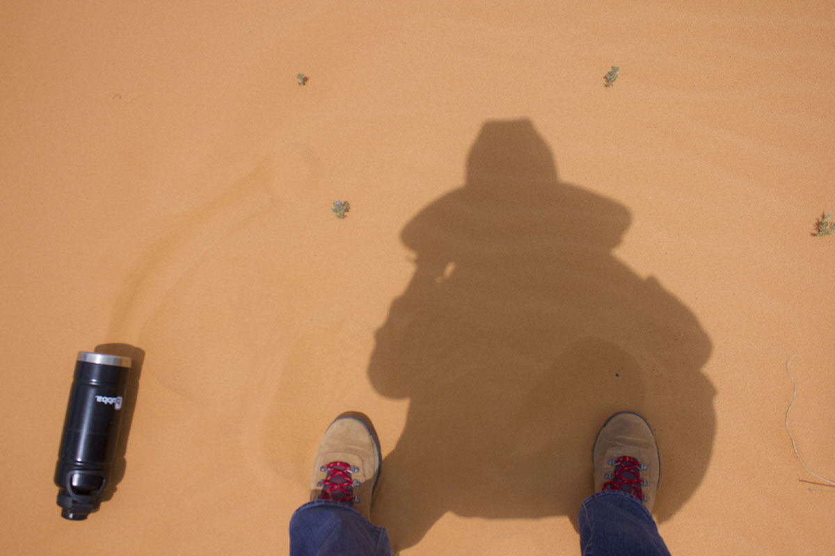 Another nomad shadow selfie in the coral pink sand dunes.