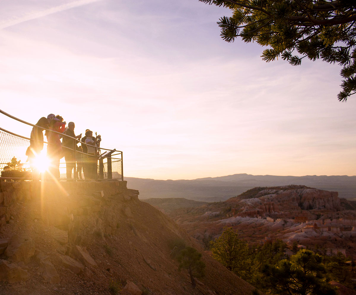 Everyone trying to get the perfect shot at Sunrise point at Bryce Canyon.