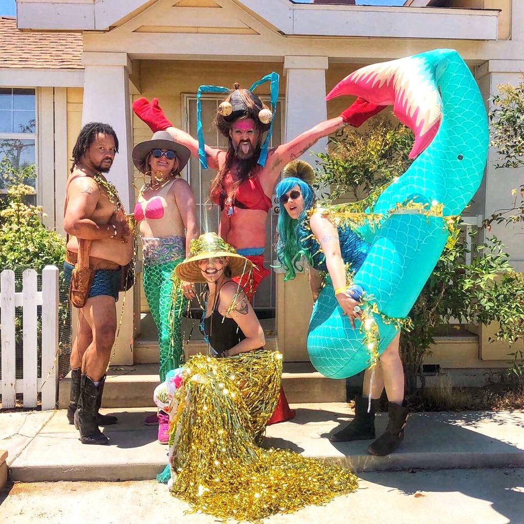 Kicking off the third Bearded & Shucked Mermaid March in Joshua Tree, CA.