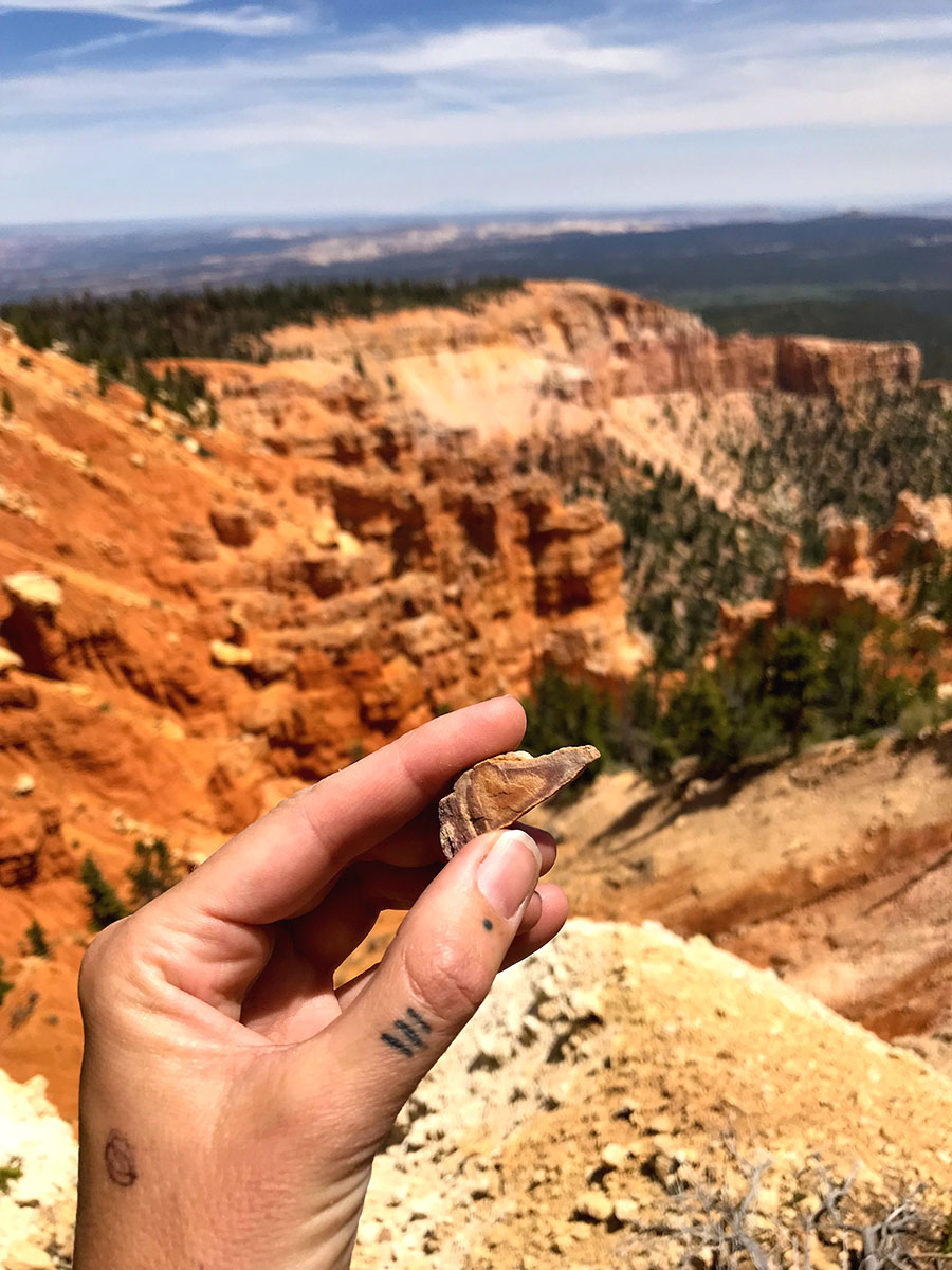 I found a heart shaped rock hiking in Bryce Canyon.