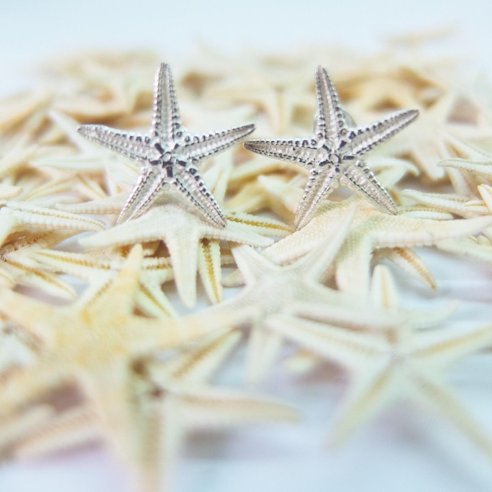 Sterling Silver Starfish Studs