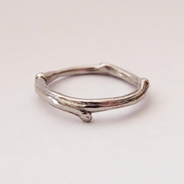 Platinum Twig Ring